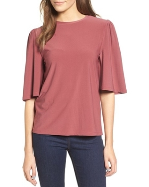 womens-leith-bell-sleeve-tee-size-medium-burgundy