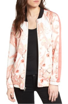 Chelsea28 Floral Print Sateen Bomber Jacket ($60): http://shopstyle.it/l/LNB
