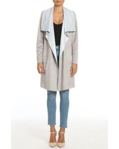 Badgley Mischka Colorblock Faux Suede Draped Coat ($120): http://shopstyle.it/l/LNd