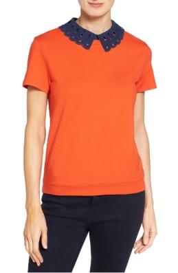 Halogen Eyelet Collar Sweatshirt ($29): http://shopstyle.it/l/LXH