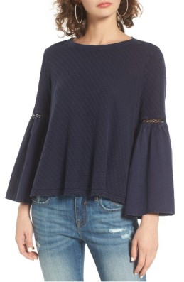 Sun & Shadow Washed Cotton Bell Sleeve Top ($23): http://shopstyle.it/l/LXE