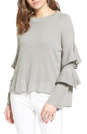 Cotton Emporium Ruffle Sleeve Sweater ($23): http://shopstyle.it/l/LXT