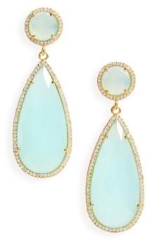 Susan Hanover Semiprecious Stone Teardrop Earrings ($116): http://shopstyle.it/l/MMV
