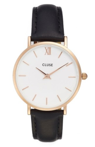 CLUSE 'Minuit' Leather Strap Watch, 33mm ($59): http://shopstyle.it/l/MN0