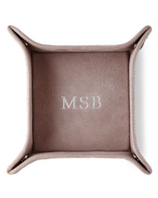 Personalized Suede Valet Tray ($110): http://shopstyle.it/l/06N