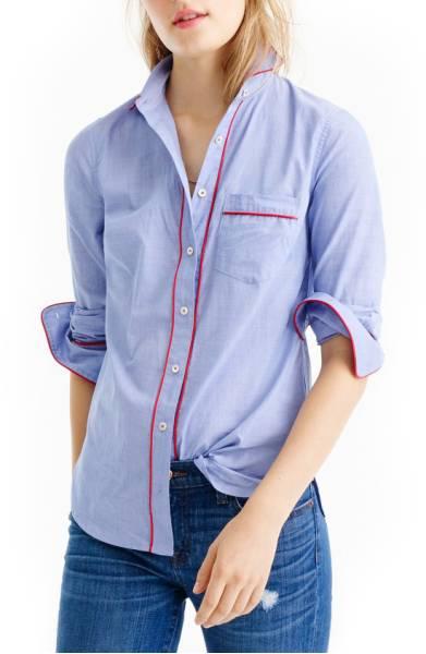 J.Crew Tipped Pajama Shirt ($57.90) http://shopstyle.it/l/cXn0