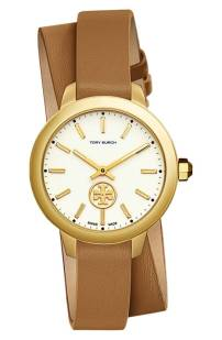 Tory Burch Collins Double Wrap Leather Strap Watch, 38mm ($196.90) http://shopstyle.it/l/cPuE