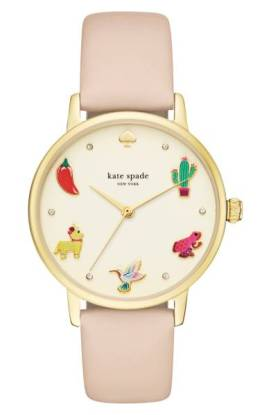 kate spade new york Metro Novelty Leather Strap Watch, 34mm ($129.90) http://shopstyle.it/l/cPuG