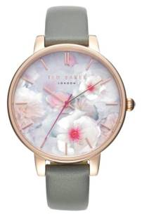 Ted Baker London Kate Print Dial Leather Strap Watch, 38mm ($99.90) http://shopstyle.it/l/cPtC