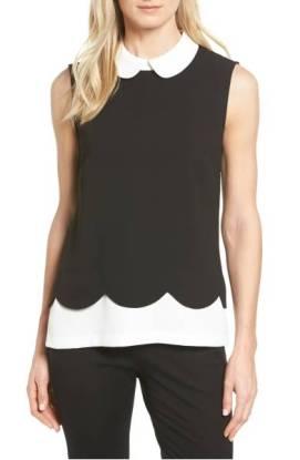 CeCe Scallop Detail Layer Look Blouse ($65.90) http://shopstyle.it/l/cXsD