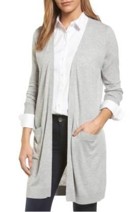 Halogen Long Open Front Cardigan ($49.90) http://shopstyle.it/l/cXzT