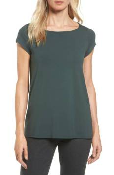 Eileen Fisher Bateau Neck High/Low Tee ($71.90) http://shopstyle.it/l/cXwx