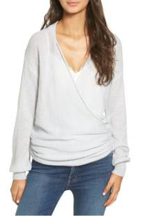 Leith Wrap Front Sweater ($49.90) http://shop.nordstrom.com/s/leith-wrap-front-sweater/4553420