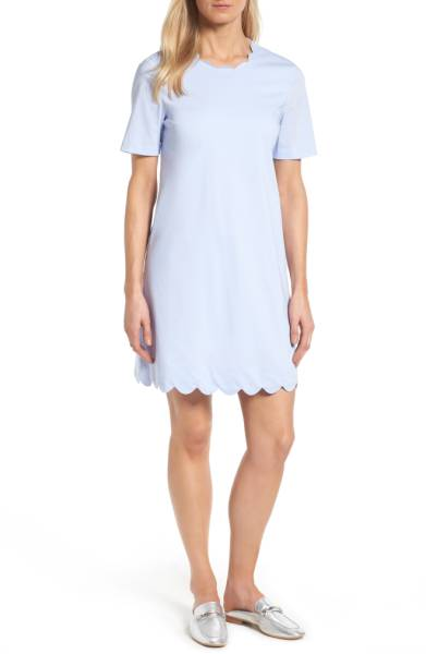 Halogen Scalloped Shift Dress ($65.90) http://shopstyle.it/l/c3Za