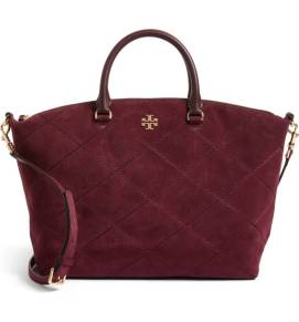 Tory Burch Frida Stitched Suede Satchel ($349.90) http://shopstyle.it/l/cO8F