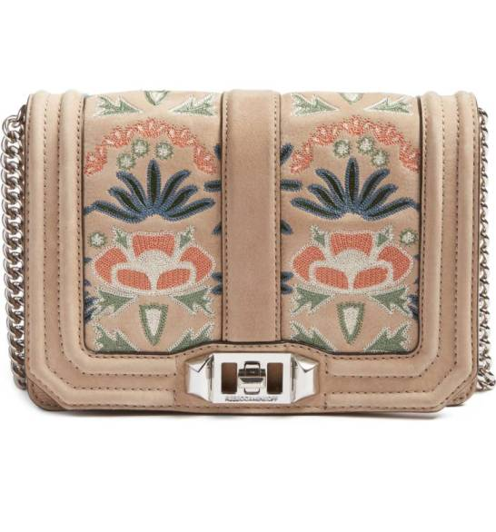 Rebecca Minkoff Small Love Embroidered Nubuck Crossbody ($183.90) http://shopstyle.it/l/cPlo
