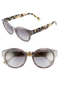 Burberry 50mm Check & Camo Temple Polarized Sunglasses ($169.90) http://shopstyle.it/l/cO2v