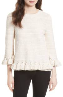kate spade new york Textured Tassel Pullover ($198.90) http://shopstyle.it/l/cXzc