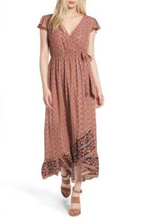 Band of Gypsies Faux Wrap Maxi Dress ($35.90) http://shopstyle.it/l/c3Yj