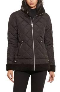 Lauren Ralph Lauren Faux Shearling Trim Quilted Bomber Jacket ($129.90) http://shopstyle.it/l/dkAp
