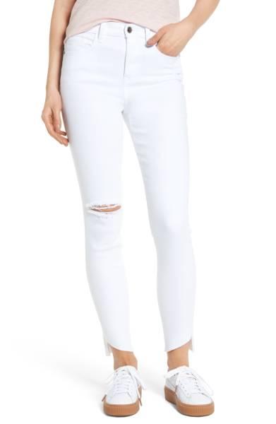 SP Black Angled Step Hem Skinny Jeans ($38.90) http://shopstyle.it/l/c2dw