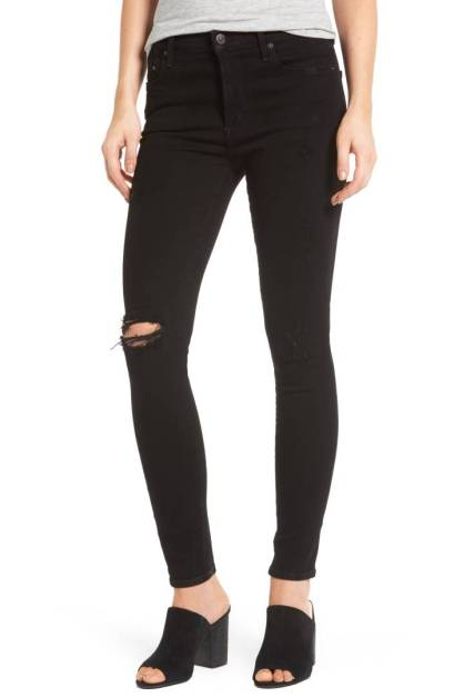 Citizens of Humanity Rocket High Waist Skinny Jeans (Black Echoes) ($158.90) http://shopstyle.it/l/c2bC