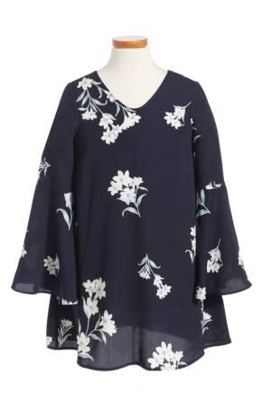 Soprano Floral Bell Sleeve Dress ($25.90) http://shopstyle.it/l/cKJ7