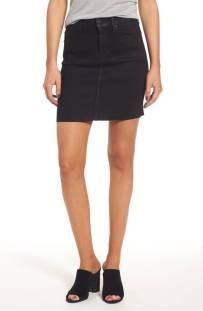 Hudson Jeans Robbie High Waist Coated Denim Mini Skirt (Sable Black) ($119.90) http://shopstyle.it/l/c2ah