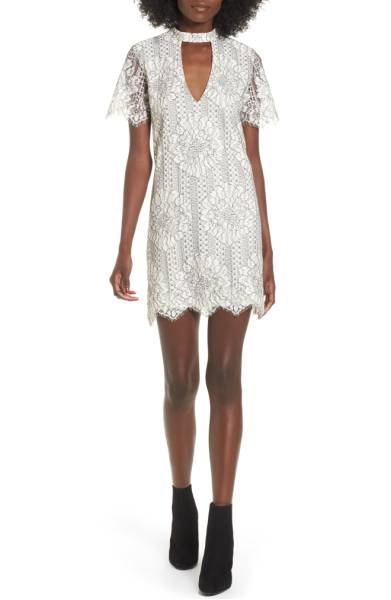 Socialite Choker Lace Shift Dress ($38.90) http://shopstyle.it/l/c3Zt