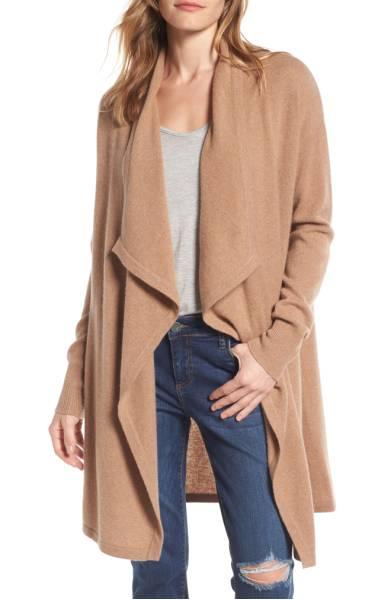 Halogen Cashmere Long Drape Front Cardigan ($141.90) http://shopstyle.it/l/cXyJ