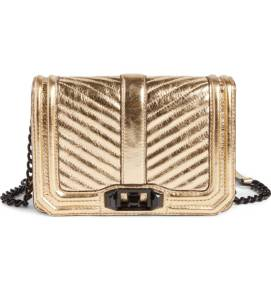 Rebecca Minkoff Small Love Metallic Leather Crossbody Bag ($129.90) http://shopstyle.it/l/cPnj