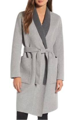 Soia & Kyo Double Face Wool Blend Long Wrap Coat ($298.90) http://shopstyle.it/l/dkwd