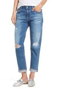 AG Ex-Boyfriend Crop Slim Jeans (15 Years Nebula) ($149.90) http://shopstyle.it/l/c14P