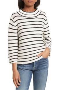 La Vie Rebecca Taylor Stripe Cotton & Wool Pullover ($183.90) http://shopstyle.it/l/cXzh