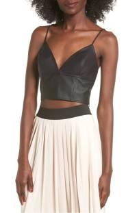 Leith Faux Leather Longline Bralette ($38.90) http://shopstyle.it/l/cXsJ