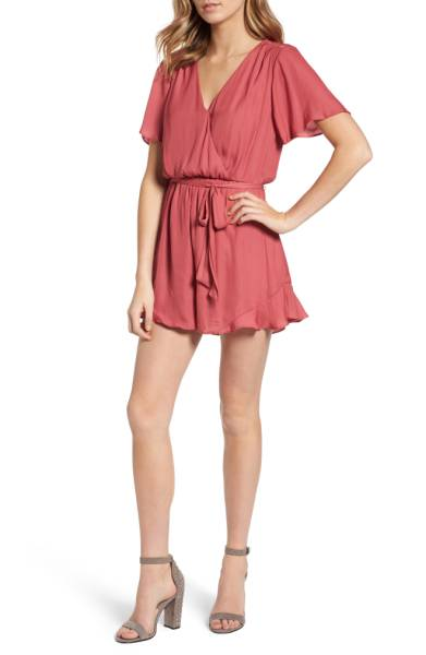 ASTR the Label Satin Ruffle Hem Romper ($45.90) http://shopstyle.it/l/c30c