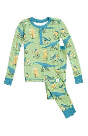 Munki Munki Dino Bikes Fitted Two-Piece Pajamas ($24.90) http://shopstyle.it/l/cKNw