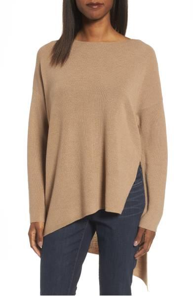 Eileen Fisher Asymmetrical Merino Wool Pullover ($185.90) http://shopstyle.it/l/cXBs