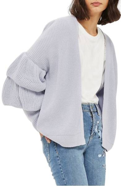 Topshop Layered Ruffle Sleeve Cardigan ($55.90) http://shopstyle.it/l/cXAh