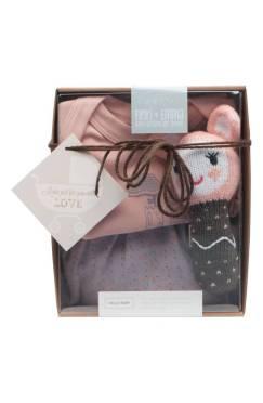 Finn + Emma Organic Cotton Romper, Pants & Rattle Set ($44.90) http://shopstyle.it/l/cKIl