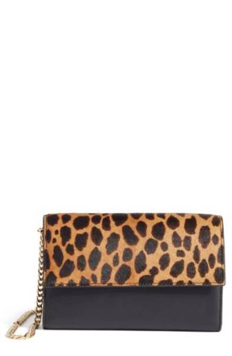 Vince Camuto Fayna Genuine Calf Hair & Leather Foldover Clutch ($98.90) http://shopstyle.it/l/cPog