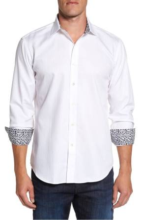 Bugatchi Slim Fit Shaped Sport Shirt ($98.90) http://shopstyle.it/l/cNzC