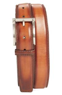 Magnanni Carbon Leather Belt ($99.90) http://shopstyle.it/l/cNTW