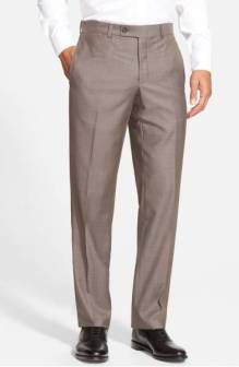 Ted Baker London Jefferson Flat Front Wool Trousers ($129.90) http://shopstyle.it/l/cNFt