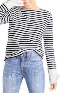 J.Crew Built-In Cuff Stripe Tee ($36.90) http://shopstyle.it/l/cXox