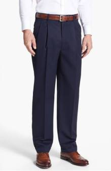 JB Britches Pleated Super 100s Worsted Wool Trousers ($99.90) http://shopstyle.it/l/cNE3