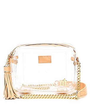 Purseption Bronwyn Tasseled Clear Cross-Body Bag ($94) http://shopstyle.it/l/g1Fz